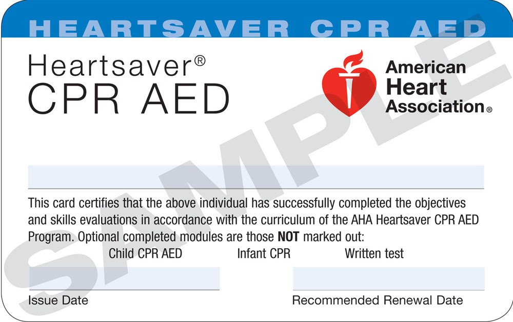 American Heart Association CPR class